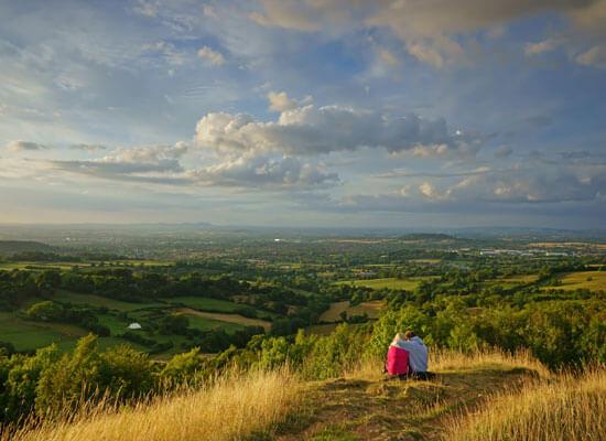 Have a romantic picnic on the Malvern hills