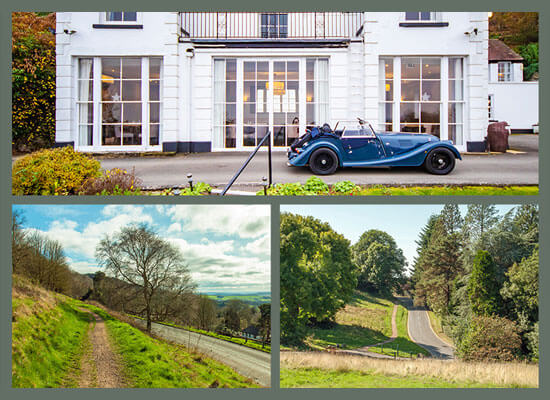 Hire a Morgan Motor and take a drive towards Ledbury from the hotel.